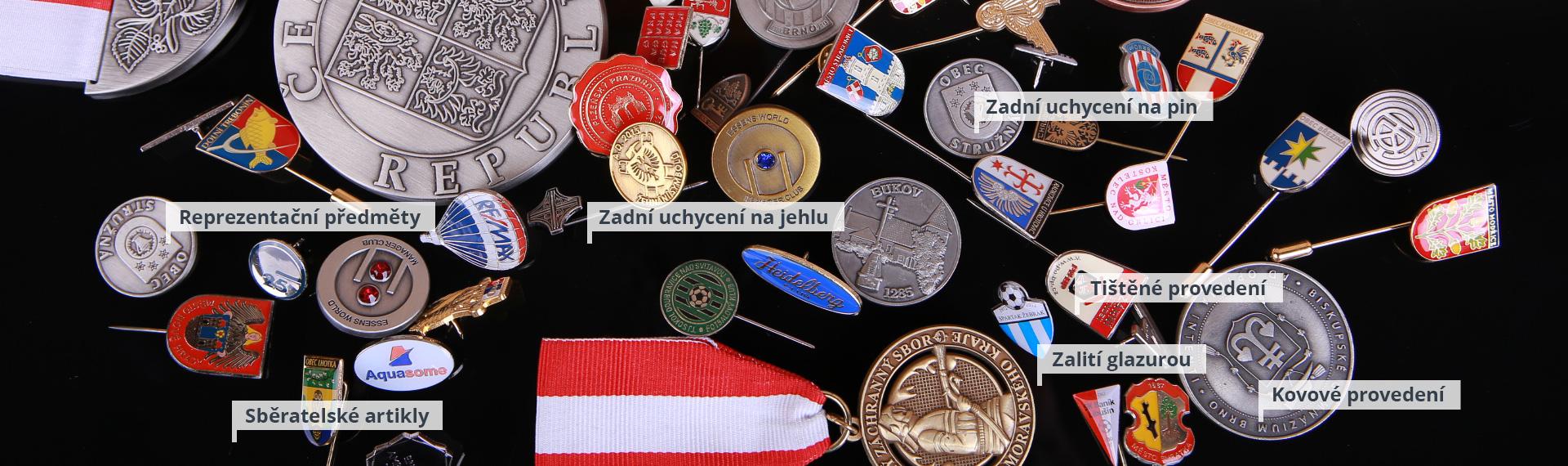 Odznaky, medaile, mince, vyznamenání