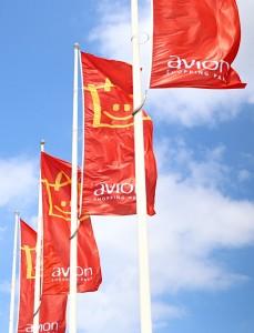 Reklamní venkovní vlajky, AVION Shopping Park Brno