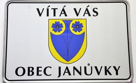 Vítací cedule pro obec Janůvky