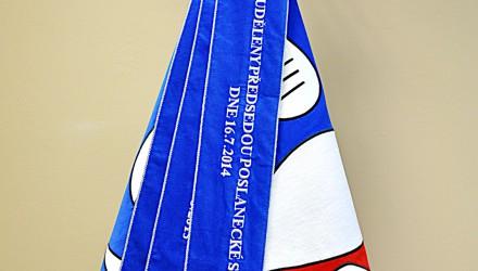 Vyšívaná stuha k obecní či městské vlajce