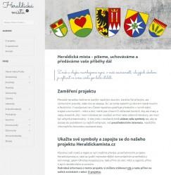 Webové stránky projektu Heraldickamista.cz