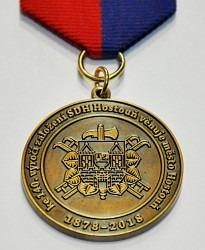 Zakázková výroba pamětní medaile na závěsné stuze.