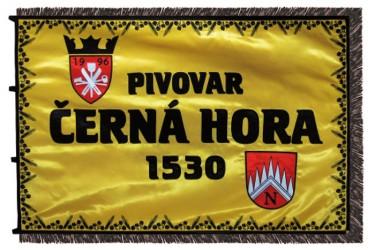 Vyšívaný firemní prapor - pivovar Černá Hora