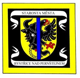 Standarta starosty města Bystřice nad Pernštejnem
