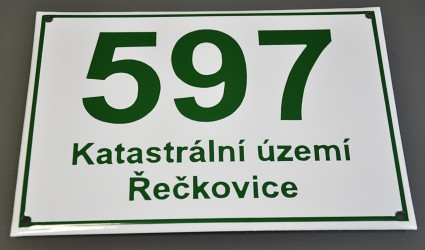 Smaltované evidenční číslo