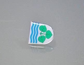 Ukázka odznaku do klopy.