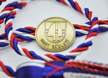 Pamětní mince vyhotovena pro obec Záblatí.