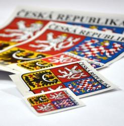 Samolepky velkého státního znaku České republiky