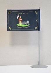 Tištěná hasičská stolní vlaječka na nasunutí na stojánek, revers