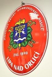 Ovál hasičský se znakem obce/města/městysu