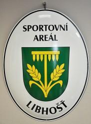 Smaltované ovály k označení sportovního areálu
