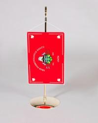 Stolní vlaječka pro hasiče s kovovým stojánkem