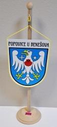 Tištená stolní vlaječka obce Popovice u Benešova