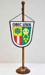 Stolní vlaječka obce Lísek