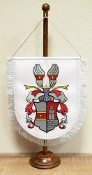 Vyšívaná stolni vlaječka s osobním znakem