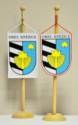 Saténové stolní vlaječky obce Kněžice