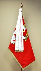 Slavnostní vyšívaná stuha k vlajce rovná