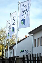 Firemní venkovní vlajky pro společnost ASIO