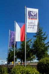 Tištěné firemní venkovní vlajky