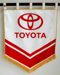Saténové tištěné vlajky a prapory pro firmy