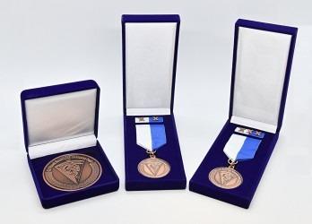 Pamětní medaile, realizace pro Krajské ředitelství policie Moravskoslezského kraje.