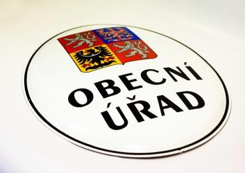Státní znak ČR na smaltovaném oválu