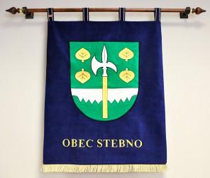 Vyšívaný znak pro obec Stebno