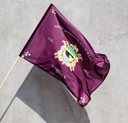 Tištěná vlajka hasičská s vlastním znakem sboru