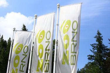 Venkovní tištěné vlajky pro Zoo Brno