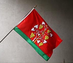 Venkovní vlajky se znakem obce, města