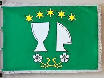 Slavnostní vyšívaná vlajka (prapor) Hodova.