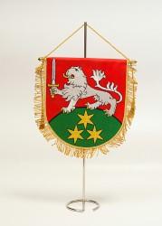 Vyšívané stolní vlaječky a stojánky