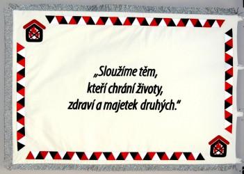 Slavnostní vyšívaná vlajka pro společnost - Požární bezpečnost s.r.o.