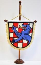 Vyšívaná stolní vlaječka - osobní znak.