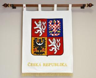 Slavnostní vyšívaný velký státní znak ČR