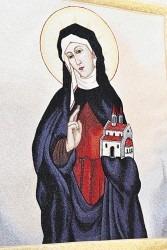 Výšivka svaté Anežky.