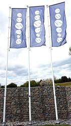 Tištěné vlajky, sklolaminátové stožáry - zakázka pro společnost Essence