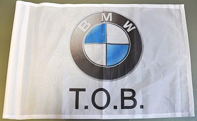 Ukázka tištěné golfové vlaječky s vlastní grafikou