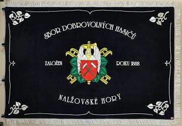 Vyšívaný prapor SDH Nalžovské Hory
