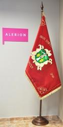 Slavnostní vyšívaný hasičský prapor SDH Lovčice (avers)