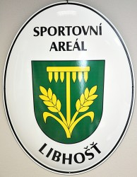 Smaltovaný ovál pro označení sportovního areálu