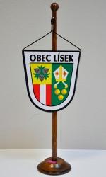 Tištěná stolní vlaječky obce Lísky