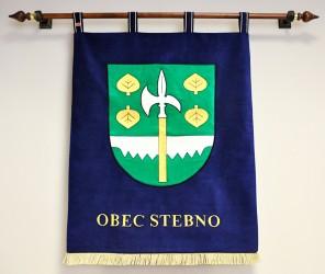 Vyšívaný znak ve velkém provedení obce Stebno