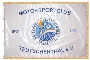 Vyšívaná vlajka pro motoristický klub