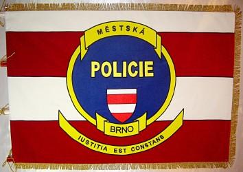 Vyšívaný prapor městská policie Brno