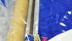Detail uchycení pláštěnky na žerdi