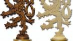 Ozdobná hlavice dvoudílné žerdi, český lev