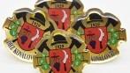 Odznak se znakem a názvem hasičského sboru.