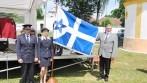 Slavnostní představení vyšívané vlajky (praporu) obce Rovná.