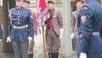 Členové sokolské stráže představili nový vyšívaný prapor